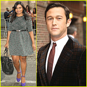 Mindy kaling joseph gordon levitt late show with david letterman
