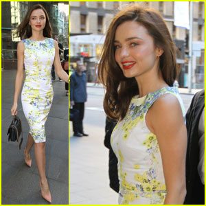 Miranda Kerr: Floral Dress Outing