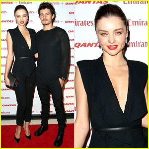 Miranda Kerr &#038; Orlando Bloom: Qantas &#038; Emirates Event!