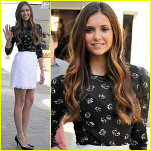 Nina Dobrev: 'Extra' at The Grove Appearance!