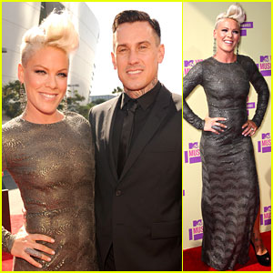 Pink & Carey Hart - MTV VMAs 2012 Red Carpet