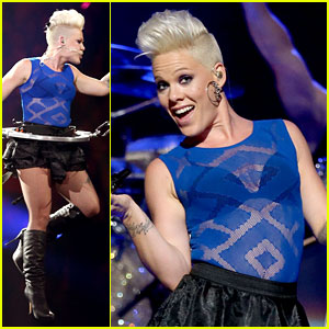 Pink Flies During iHeartRadio Music Festival Performance!
