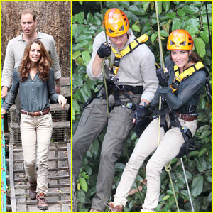 Prince William & Duchess Kate: Hoisted Up A 130-Foot Tree In The Rainforest!