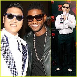 Psy Teaches Usher 'Gangnam Style' Dance at iHeartRadio!