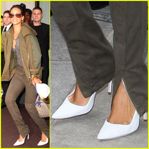 Rihanna Leaves London In Style