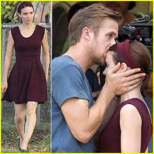 Ryan Gosling Kisses Rooney Mara on 'Untitled Terrence Malick Project' Set!