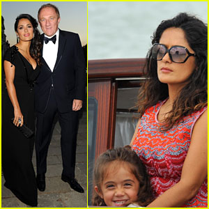 Salma Hayek: Gucci Awards with Francois-Henri Pinault!