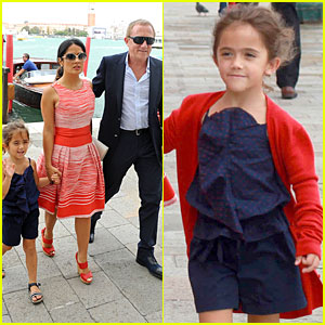 Salma Hayek: Venice Outing with Family!