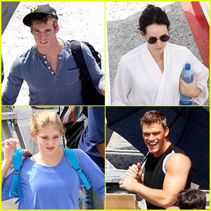 Sam Claflin & Jena Malone: 'Hunger Games: Catching Fire' Set!