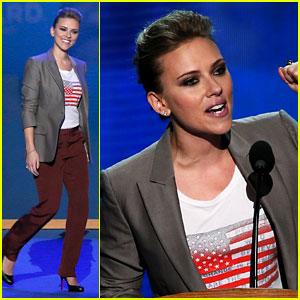 Watch Scarlett Johansson's Speech at Democratic National Convention!