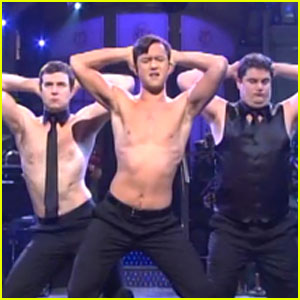 Shirtless Joseph Gordon-Levitt: 'Magic Mike' Dance on SNL - Watch Now!