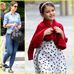 Suri Cruise: Katie Holmes' Little Red Riding Hood!