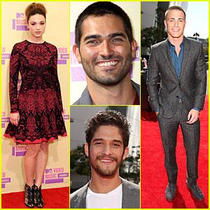 'Teen Wolf' Cast - MTV VMAs 2012 Red Carpet