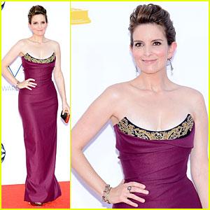 Tina Fey - Emmys 2012 Red Carpet