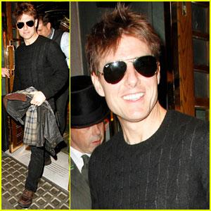 Tom Cruise: Joyful at The Ivy!