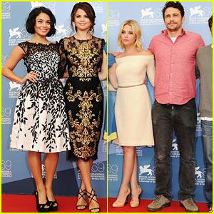Vanessa Hudgens & Selena Gomez: 'Spring Breakers' Venice Photo Call!