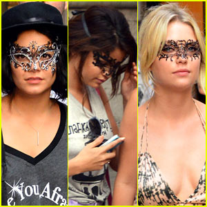 Selena Gomez Vanessa Hudgens on City Celebrities  Vanessa Hudgens   Selena Gomez  Masked Beauties In