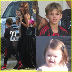 Victoria Beckham: Spectator at Son's Soccer Game!