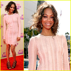 Zoe Saldana - MTV VMAs 2012 Red Carpet