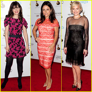 Zooey Deschanel & Julia Louis-Dreyfus: Pre-Emmys Party!