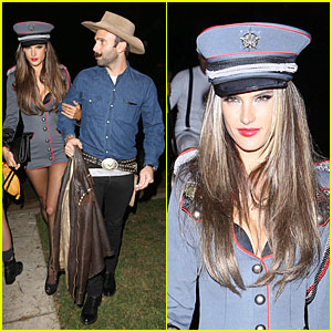 Alessandra Ambrosio & Jamie Mazur: First Halloween Party Together!