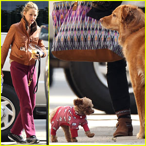 Blake Lively: 'Gossip Girl' Set with Penny & Baxter!