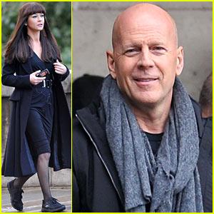 Catherine Zeta-Jones & Bruce Willis: 'Red 2' Filming in Paris!