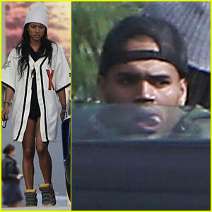 Chris Brown: Gas Station Stop with Karrueche Tran