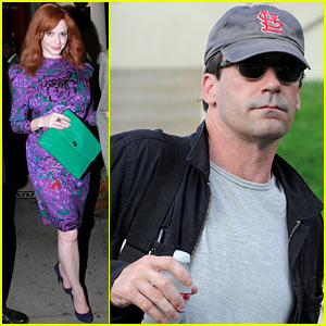 Christina Hendricks & Jon Hamm: Separate Los Angeles Outings!