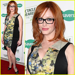 Christina Hendricks: Specsavers Most Stylish Spec Wearer Launch!