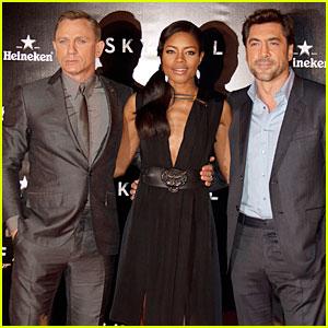 Daniel Craig & Javier Bardem: 'Skyfall' Madrid Premiere