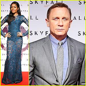 Daniel Craig & Naomie Harris: 'Skyfall' Rome Premiere!