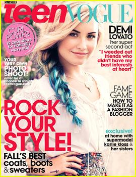 Demi Lovato Covers 'Teen Vogue' November 2012