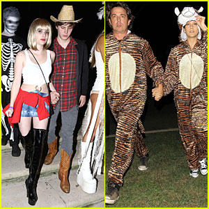 Emma Roberts Pretty Woman Aunt Julia For Halloween 2012 Halloween Chris Case Emma Roberts Evan Peters Kate Walsh Just Jared
