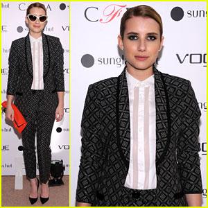 Emma Roberts: Vogue Eyewear & CFDA Unveiling!