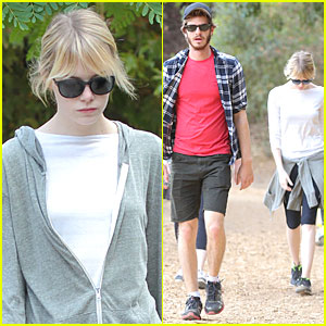 Emma Stone & Andrew Garfield: Morning Stroll in the Hollywood Hills!