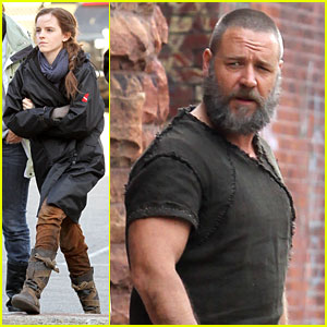 emma watson �noah� set with russell crowe douglas