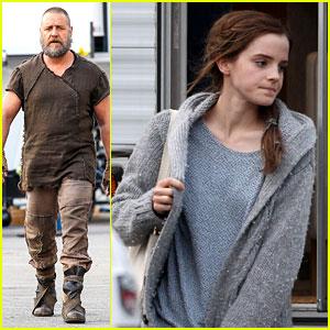 Emma Watson & Russell Crowe Film 'Noah' in Brookville!