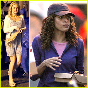 Eva Mendes: Curly Hair for 'Clear History'!