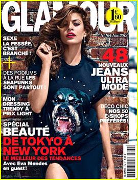 Eva Mendes Covers 'Glamour Paris' November 2012