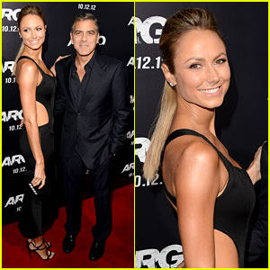 George Clooney: 'Argo' Premiere with Stacy Keibler!