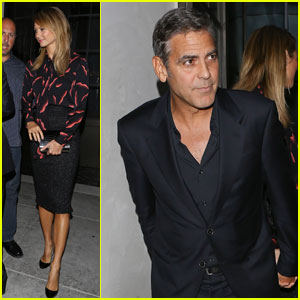 George Clooney & Stacy Keibler: Spago Dinner Date!
