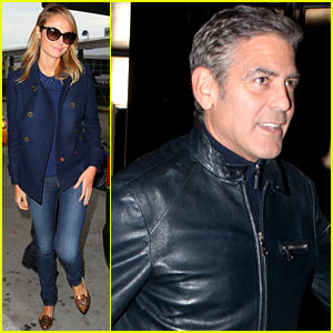 George Clooney & Stacy Keibler: Big Apple Dinner Date!