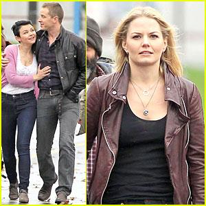 Ginnifer Goodwin & Josh Dallas: 'Once Upon A Time' Set with Jennifer Morrison!