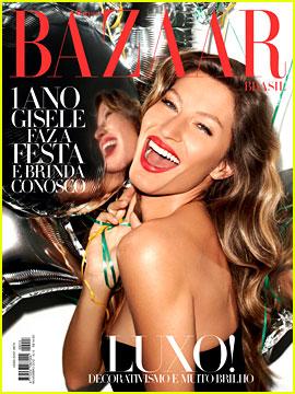 Gisele Bundchen Covers 'Harper's Bazaar Brazil'