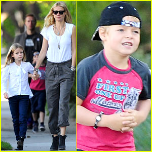 Gwyneth Paltrow & Chris Martin: Family Walk to School!