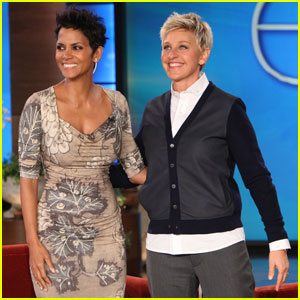Halle Berry Scared By A Spider on 'Ellen'!