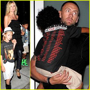 Heidi Klum: Justin Bieber Concert with Martin Kirsten & the Kids!