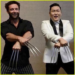 Hugh Jackman & Psy Dance 'Gangnam Wolverine Style'!