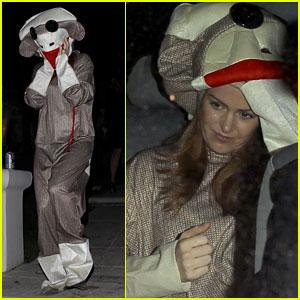 Isla Fisher: Sock Monkey Doll for Halloween!